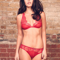 Briar Rose Silk and Chantilly Lace Lingerie Set / Underwear Made to Order