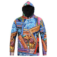 Yu-gi-oh! All Over Print Anime Cartoon Yugioh Cards Collage Blue Brown & Purple Hoodie