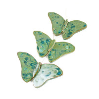 Bright Beautiful Butterflies Wallhanging - Ceramic Wall Art - Spring Decor