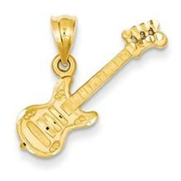 Guitar Charm in 14k Gold