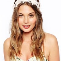 ASOs Floral Headband & Ribbon
