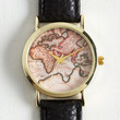 Travel Next Stop, the Time Zone Watch in Black by ModCloth