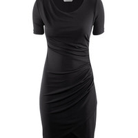 Ruched Short Sleeves Dress