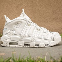 NIKE AIR MORE UPTEMPO '96 - LIGHT BONE/WHITE-LIGHT BONE