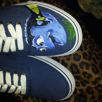 Dory - Finding Nemo Hand Painted Shoes with Laces Or Custom Order