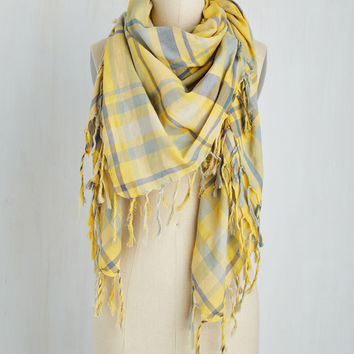Freestyle Wrap Scarf in Yellow | Mod Retro Vintage Scarves | ModCloth.com