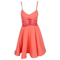 Women's Summer Sexy Spaghetti Strap Short Skater Dress