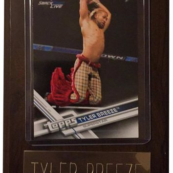 "Tyler Breeze 4"" x 6"" WWE Wrestling Plaque"