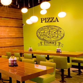 ik1035 Wall Decal Sticker pizza Pizzeria Italian Restaurant Pizzeria Italy