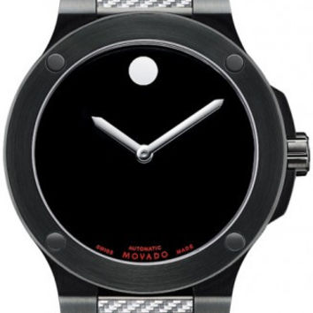 Movado SE Extreme Men's Black PVD Rubber Band Black Horwitt Dial Automatic Movement 44mm Watch 0606492