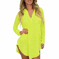 6XL Sheer Chiffon Blouse 2018 Plus Size Women Clothing Long Sleeve Autumn Brand Shirt Casual Loose Oversized Top Chemise Femme