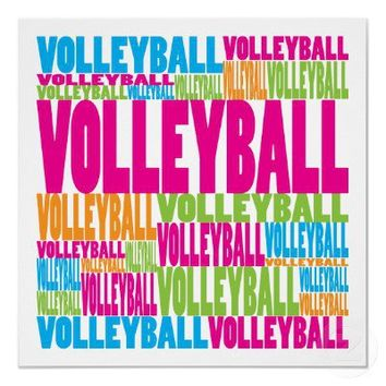 Colorful Volleyball Poster from Zazzle.com