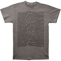 Joy Division Men's  Unknown Pleasures Slim Fit T-shirt Heather