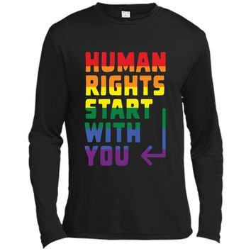 Human rights start with you - LGBT t-shirt