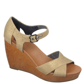 Dr. Scholls Melody Metallic Canvas Platform Sandals
