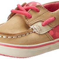 Sperry Top-Sider Bluefish Crib Boat Shoe (Infant/Toddler),Linen/Pink,4 M US Toddler