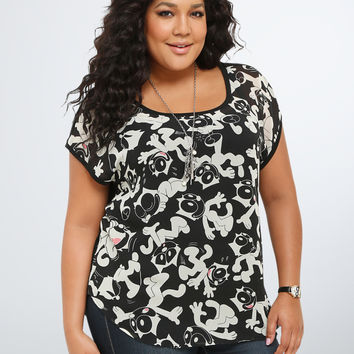 Felix Collection Print Dolman Top
