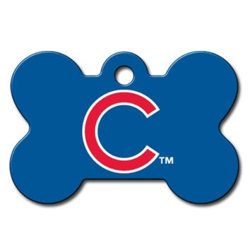Officially Licensed MLB Chicago Cubs Bone Pet ID Tag