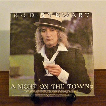 "Vintage 1976 Rod Stewart ""A Night on the Town"" Vinyl LP Album Released by Warner Brother Records / Retro Classic Rock Album / 70s Pop"