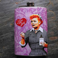 I Love Lucy Inspired Stainless Steel Flask 8oz. - FP238