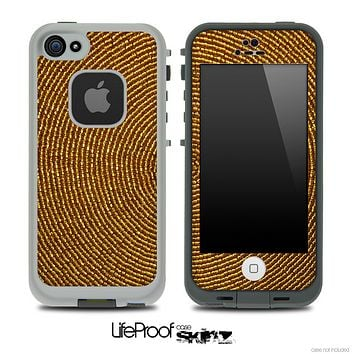 Fabric Fingerprint Skin for the iPhone 5 or 4/4s LifeProof Case