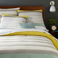 Color Block Stripe Duvet + Shams