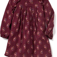 Ruffle-Trim Pleated Crepe Dress for Baby | Old Navy