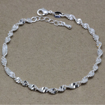 New Arrival Shiny Gift Great Deal Awesome Hot Sale 925 Jewelry Stylish Korean Lovely Chain Bracelet [8171772295]