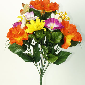 Butterfly Bouquet - Orange/Purple/Yellow