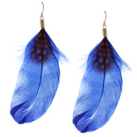 Purple Accent Feather Hook Earrings | Overstock.com Shopping - The Best Deals on Fashion Earrings