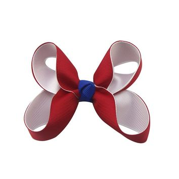 Adogirl 9PCS 3Inch High Quality Classic Solid Colors Outfit Boutique Go To School Hair Bows With Hair Clip Hairpin For Girl Gift