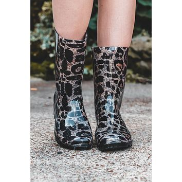 Leopard Riverwalk Rain Boots