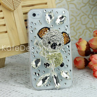 koala iphone 5 case,  iphone 4s cases with crystal stones, iphone cover skin with bling bling, birthday gifts