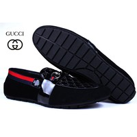 Gucci Men's Fashion Cool Edgy Leather shoes