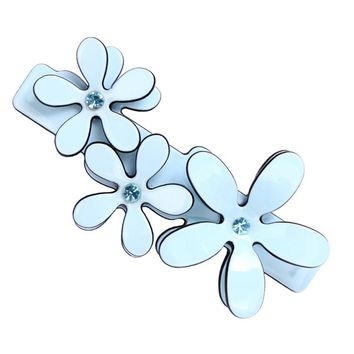 Fashion Women Flower Acetate Hair Spring Clip Clamp French Barrettes Flowers Hair Jewelry Hairpin Hair Accessories Ornament