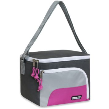 Schools In Awesome Lunch Bags Gray and Pink
