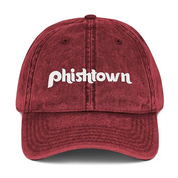 Phishtown Embroidered Vintage Cotton Twill Cap