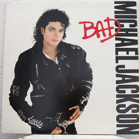 "Michael Jackson - ""Bad"" vinyl record w/ Original Inner Sleeve"