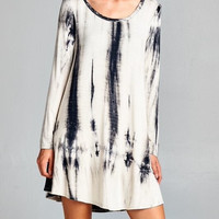 ZZZ - Long sleeve tie dye dress