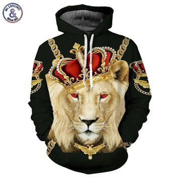 Mr.1991INC Lion King Hoodies Men Women Unisex Sweatshirts 3d Print Colorful Blocks Skull Hooded Hoodies Hip Hop Hoodies