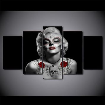 Marilyn Monroe Tattoo Red Rose wall art picture panel art on canvas