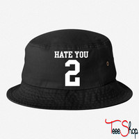 Hate You 2 Jersey bucket hat