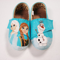 Disney's Frozen Painted Toms Shoes