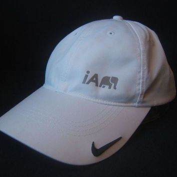 ESBONG6 Nike Golf Hat White Hook Loop Baseball Cap