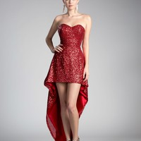 Red Prom High Low Dress Formal Gown