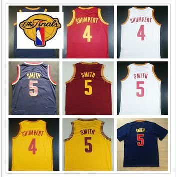 2017 Finals Basketball Jersey 4 Iman Shumpert Red Blue White Yellow Cheap New 5 Jr Smith Jerseys Sports Shirt With The Patch