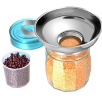 S/L Stainless Steel Wide Mouth Canning Funnel Wide-mouth Can Funnels for Food Powder Beans Pickles Jam Kitchen Gadgets