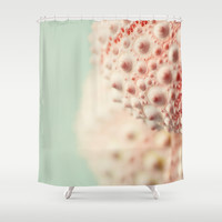 sea urchin series no 3 Shower Curtain by Erin Johnson