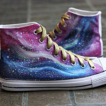 DCCKIJG Harajuku Galaxy canvas shoes,Galaxy shoes,galaxy vans shoes,galaxy shoes,sneakers vans