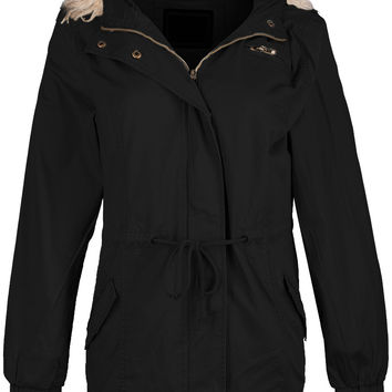 Trendy Hooded Utility Cargo Jacket
